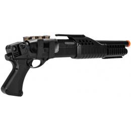 AMA Airsoft Spring Powered Tactical Shotgun RIS w/ Pistol Grip - BLACK