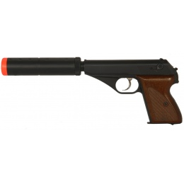 HFC Airsoft Gas Mini Pistol Non-BlowBack with Mock Suppressor - BLACK