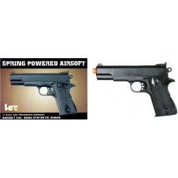 HFC Airsoft Premium Spring M1911 Pistol w/ Embedded Sight - BLACK