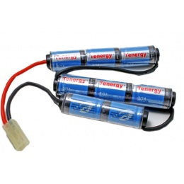 Tenergy Airsoft 9.6V Battery NiMH Special Design Rechargeable - 1600mAh