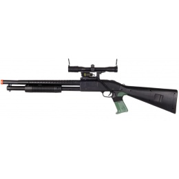 UK Arms Airsoft P799A Spring Shotgun w/ Laser and Scope - BLACK