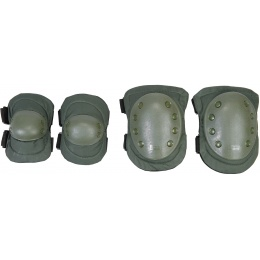 AMA Airsoft Knee and Elbow Protective Gear Set - OLIVE DRAB GREEN