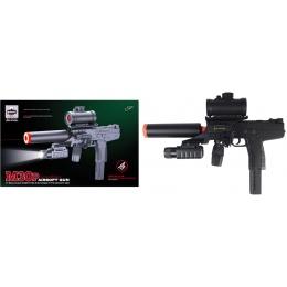 Double Eagle Airsoft M30P Uzi Spring Pistol w/ Accessories - BLACK