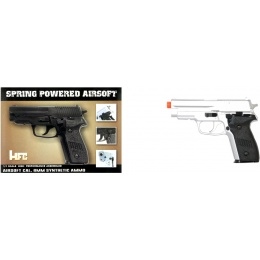 HFC Airsoft Premium Spring Side Arm Pistol - SILVER