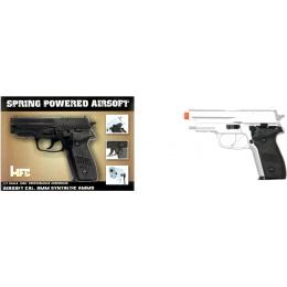 HFC Airsoft Premium Spring Side Arm Pistol - SILVER