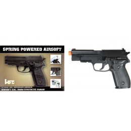 HFC Airsoft Premium Spring Side Arm Pistol- BLACK