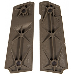 Airsoft M1911 Small Squares Grip Series - DARK EARTH