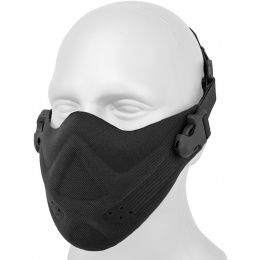 AMA Neoprene Airsoft Hard Foam Lower Face Mask - BLACK