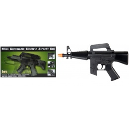 HFC Airsoft Mini Assault Rifle Carbine w/ Carrying Handle - BLACK