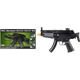 HFC Airsoft Mini Assault Pistol w/ Embedded Sights - BLACK