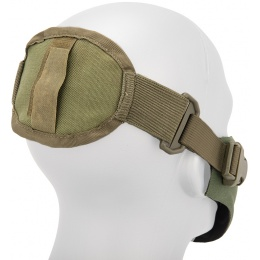 AMA Neoprene Airsoft Hard Foam Lower Face Mask - OLIVE DRAB GREEN