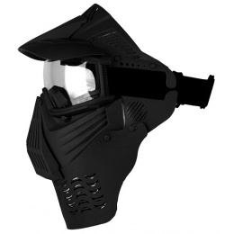 G-Force Complete Modular Full Face Airsoft Mask w/ Clear Lens - BLACK