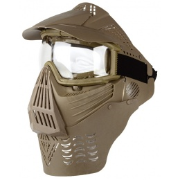 G-Force Complete Protection Modular Airsoft Face Mask w/ Clear Lens