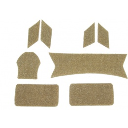 Lancer Tactical Maritime Helmet Devil Hook and Loop Stickers- TAN