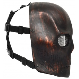 G-Force Airsoft INFERNO Wire Mesh Army Full Face Mask - Red Skull