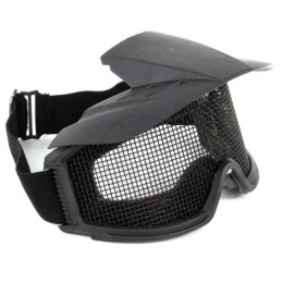 G-Force Tactical Airsoft Wire Mesh Goggles w/ Visor - BLACK