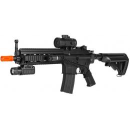 Double Eagle M804A2 LPEG Airsoft Gun w/ Red Dot Sight - BLACK