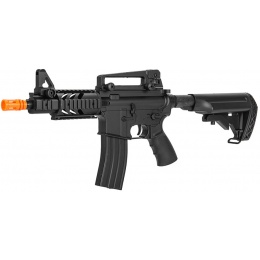 Well D3809 Airsoft AEG Rifle w/Adjustable Crane Stock - BLACK