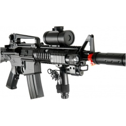 Double Eagle M83B2 M4 LPEG Airsoft Rifle w/ Flashlight & Dot Scope