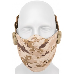 AMA Neoprene Airsoft Hard Foam Lower Face Mask - DESERT
