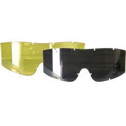 Lancer Tactical Airsoft Goggles Lens Set - Smoke/Yellow