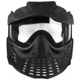 G-Force TSD Tactical Full Face Clear Face Mask w/ Visor - BLACK