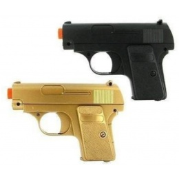 Double Eagle P328GB Spring Airsoft Pistols - BLACK & GOLD