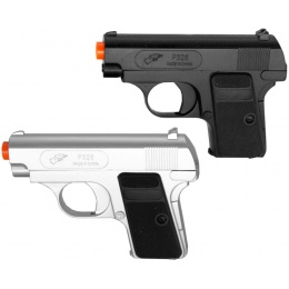Double Eagle P328SB Spring Airsoft Pistols - BLACK & SILVER