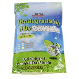 ICS Biodegradable Airsoft BBs 3500 Bag - White