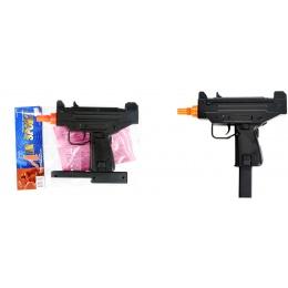 Double Eagle Airsoft M33 Mini Uzi Single Shot Spring Pistol - BLACK