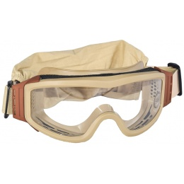 Lancer Tactical Airsoft Basic Safety Goggles w/ Adjustable Headband - TAN