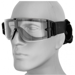 Lancer Tactical Airsoft Frameless Safety Goggles w/ Adjustable Headband - BLACK