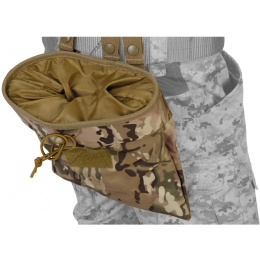 Lancer Tactical Airsoft Large Foldable Mountable Dump Pouch - CAMO