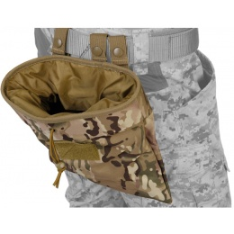 Lancer Tactical Airsoft Large Foldable Mountable Dump Pouch - CAMO