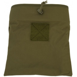 Lancer Tactical Airsoft Large Foldable Mountable Dump Pouch - OLIVE DRAB GREEN