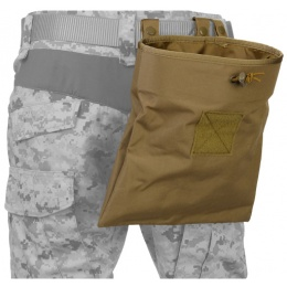 Lancer Tactical Airsoft Foldable Mountable Dump Pouch (Polyester) - TAN
