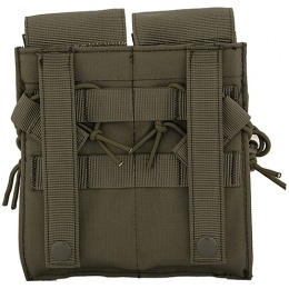 Lancer Tactical Airsoft Dual Magazine Pouch for M4/M16/AK Series AEGs - OLIVE DRAB GREEN