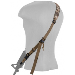 Lancer Tactical Airsoft Quick Detach 2-Point Padded Weapon Sling - CAMO