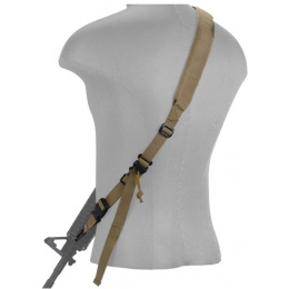 Lancer Tactical Airsoft Quick Detach 2-Point Padded Weapon Sling - TAN