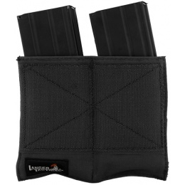 Lancer Tactical Airsoft Dual Inner Vest Magazine Pouches - BLACK
