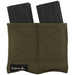 Lancer Tactical Airsoft Dual Inner Vest Magazine Pouches - OLIVE DRAB GREEN