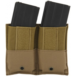 Lancer Tactical Airsoft Dual Inner Vest Magazine Pouches - TAN