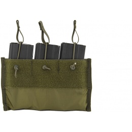 Lancer Tactical Airsoft Triple Inner M4 Mag Pouch for CA-311 - OD GREEN