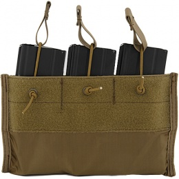 Lancer Tactical Airsoft Triple Inner M4 Mag Pouch for CA-311 - TAN