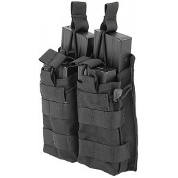 Lancer Tactical Airsoft Bungee Open Top Quad M4 Mag Pouch - BLACK