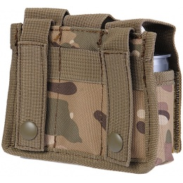 Lancer Tactical Airsoft Triple Grenade Pouch w/ MOLLE Straps -  CAMO