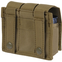 Lancer Tactical Airsoft Triple Grenade Pouch w/ MOLLE Straps -  TAN