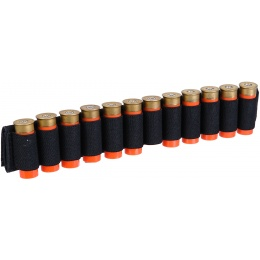 Lancer Tactical Airsoft Shotgun Shell Holder 12 Rd Capacity [Nylon] - BLACK