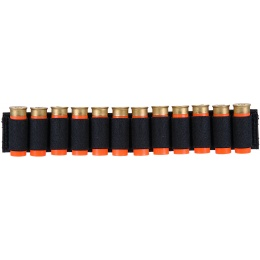 Lancer Tactical Airsoft Shotgun Shell Holder 12 Rd Capacity [Nylon] - BLACK