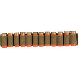 Lancer Tactical Airsoft Shotgun Shell Holder 12 Rd Capacity - CAMO